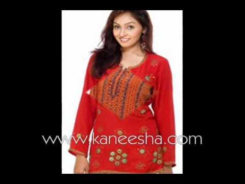 Fashion Kurti Tops Tunic, Kurtis Tunics From India
