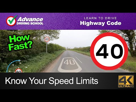 Know Your Speed Limits  |  Learn To Drive: Highway Code