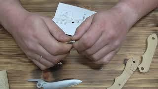 It's my knife. Собираю свой первый складной нож. Складной нож который может сделать каждый. #1