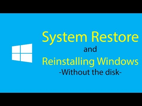 System Restore & Reinstall Without Disk! | Windows | How To