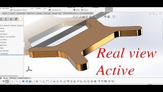 TUTORIAL SOLIDWORKS | activate realview  graphics