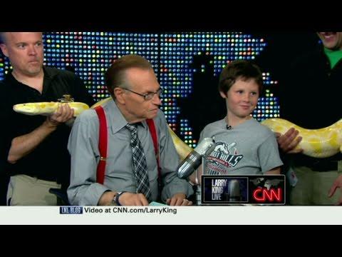 CNN: Larry King's son faces rattlesnake