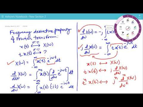Frequency Derivative Property of Fourier Transform