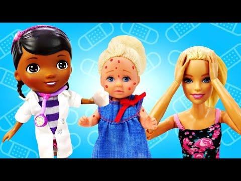 Куклы Барби - Штеффи переборщила с косметикой. Играем в куклы - Видео для девочек