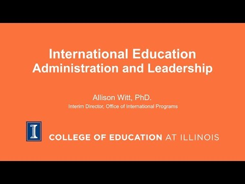 International Education Administration and Leadership