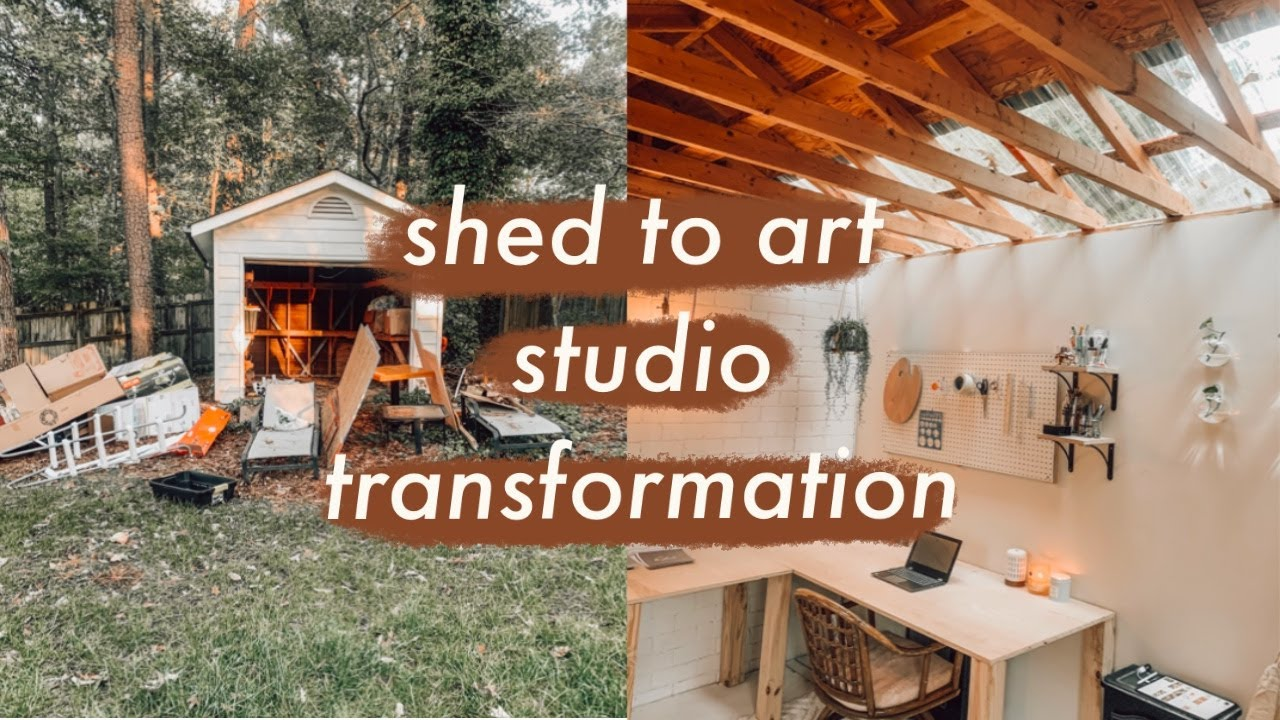Transforming My Shed Into An Art Studio