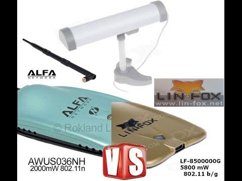 LIN-FOX 8500000G vs Alfa AWUS036NH WiFi USB Adapters