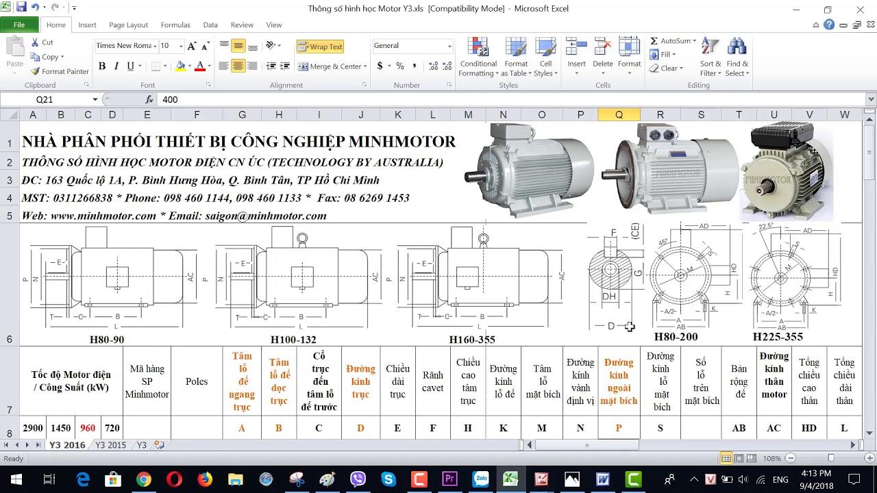 Bản vẽ kỹ thuật động cơ điện 22 kw 30 HP 960-1000 vòng phút, MINHMOTOR 0968140191 .
