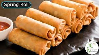 Veg Spring Roll & Sheet Recipe | Spring Roll Sheet Recipe | Easy Spring Roll ~ The Terrace Kitchen