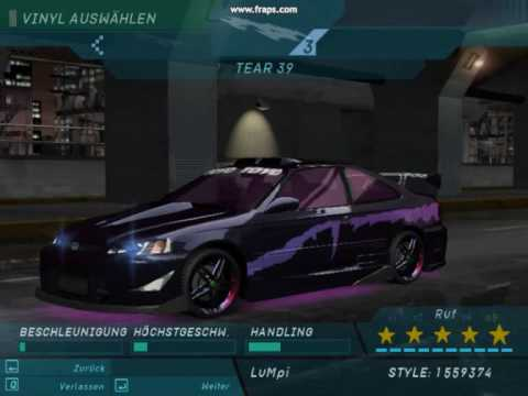Need for Speed Underground 1 ''Civic tuning'' - YouTube