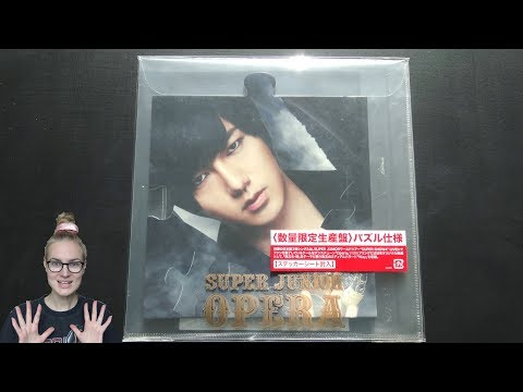 Unboxing Super Junior 5th Japanese Single Album OPERA [Limited Yesung Edition]