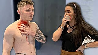 Falling after Neck Surgery 'PRANK' on Girlfriend *SHE CRIED*