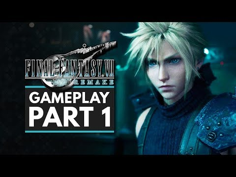 Final Fantasy 7 Remake | Gameplay Walkthrough Part 1 - First 50 Minutes (Final Fantasy VII Remake)