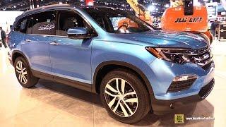 2016 honda pilot exterior and interior walkaround debut at 2015 chicago auto show