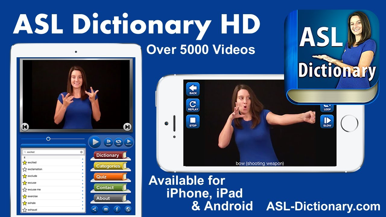Sign american dictionary language with pictures