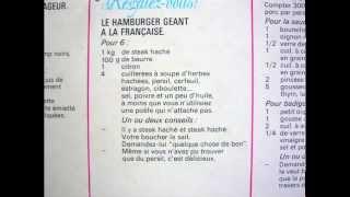Anne Marie Peysson  - Le hamburger à la française,