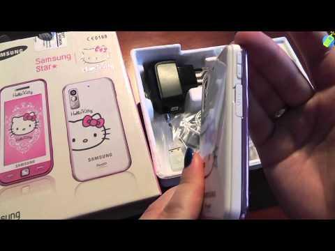 unboxing pl SAMSUNG AVILA S5230 White Pink Hello Kitty rozpakowanie po polsku