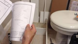 Mainstays Bathroom wall Cabinet build and review