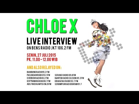 ChloeX Live Interview on Bens Radio Jakarta 106.2 FM