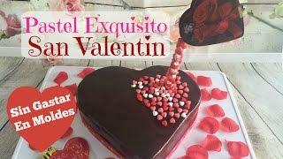 Pastel Corazón Con Glaseado De Chocolate 14 De Febrero
