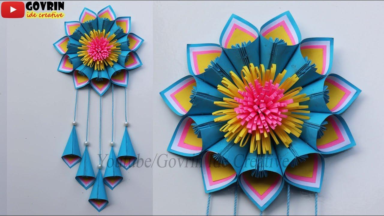Wall Decor Ideas Hiasan Dinding Cantik Dari Kertas Origami Hiasan Kelas Keren Youtube