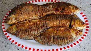 Один маленький секрет жарки рыбы без костей: Карася, Карпа,Лящ.