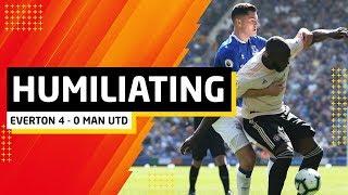 Humiliated.   Everton 4-0 Manchester United