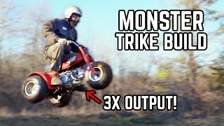 Honda ATC 70 140cc Swap! Tiny 3 Wheeler gets BIG POWER!