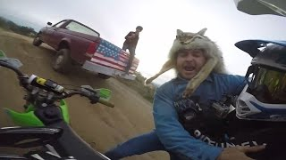 CRAZY REDNECK FIGHTS US AND STEALS DIRTBIKE!