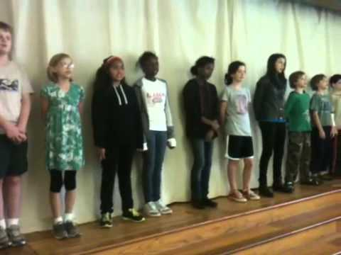 6th Grade Alabama Waldorf School students perform Chief Sea