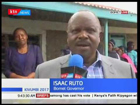 Bomet Governor Isaac Ruto talks on issues regarding the polling exercise