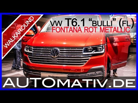 VW T6.1 Bulli Facelift (2019) in Fontana Rot Metallic | Walkaround | Details | Cockpit