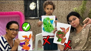 DESAFIO COLORINDO COM 3 CORES  Ft Vovó Graça 3 MARKER CHALLENGE