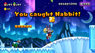 New Super Mario Bros. U. - Catching Nabbit (5 Star Profile)(This video shows all of the times that you need to catch Nabbit to get a 5 star profile. Below is the playlist for this series. New Super Mario Bros. U (2 player) ..., 2016-05-17T11:30:00.000Z)