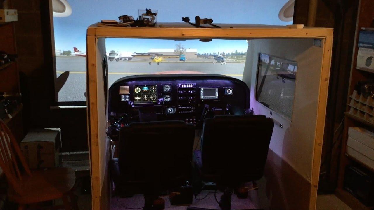 Basement Sim Tour 2 0 (P3D / X-Plane Cessna Home Cockpit)