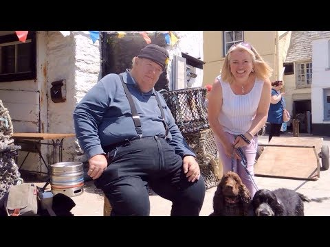 MEETING Bert Large Ian McNeice in Port Isaac