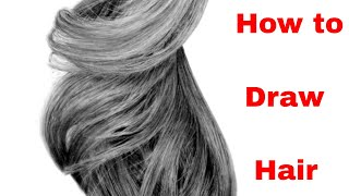 How To Draw Hair - Full Length Drawing Tutorial Available Now