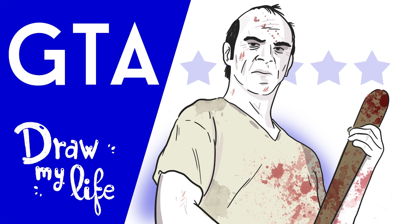 HISTORIA de GRAND THEFT AUTO (GTA) - Draw My Life