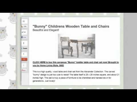Baby Toddler Table and Chair Set for Play