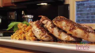 Pork Chops With Maple Mustard Sauce And Roasted Butternut Squash Risotto