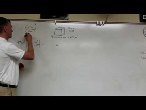 Volume Conversion: Cubic Centimeters to Cubic Meters (Lynch Method)