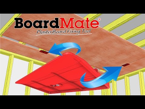 PlasterBoard Fixing Tool Supports the Board in Place While Fixing BoardMate