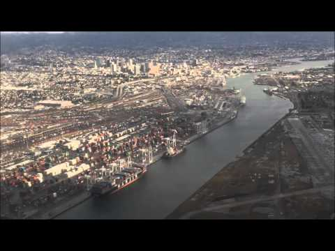 OAK Oakland Southwest Airlines landing at airport 2016
