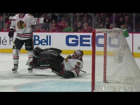 Crawford takes Weber one-timer right off the head