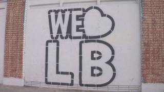 We Love LB logo stenciled on PT building