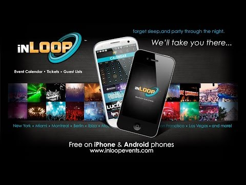 inLOOP Events app - (FREE) Find Parties Near You Anywhere, Anytime & More!