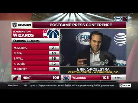 Erik Spoelstra -- Miami Heat at Washington Wizards 04/08/2017