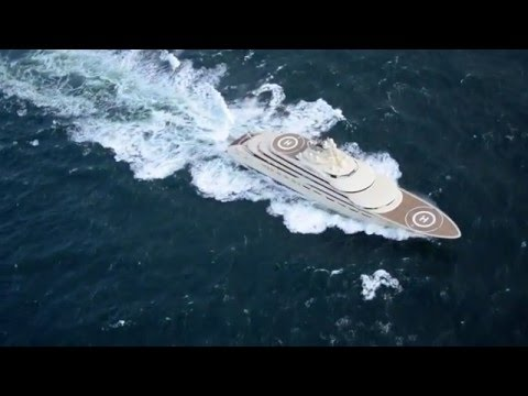 Exclusive Aerial Footage Of The New 156m Superyacht Dilbar