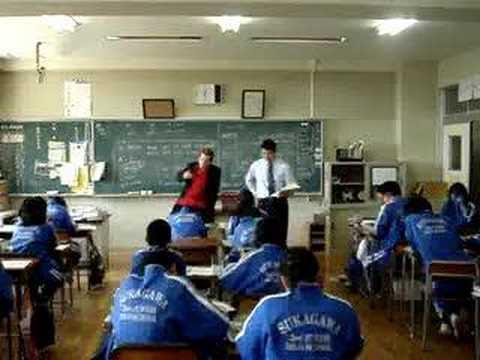 Japanese Junior High School English Lesson with Luke