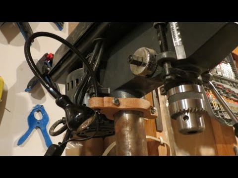 Harbor Freight Drill Press 12 Watt Led Light Mod Upgrade